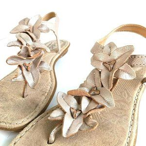 BOC Born Concept Womens Flower T-Strap Sandals 9
